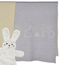 Babu Bunny Blanket - Grey/Yellow