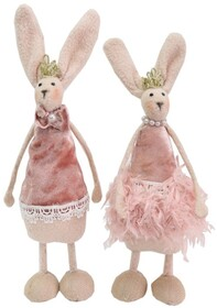 Le Forge Easter Feather Tutu Bunnies - Pink Lge