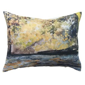 French Country Lakeside Cushion - 60x40cm