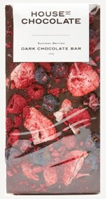 House of Chocolate Summer Berry Chocolate Bar - Dark